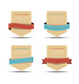 set retro banners and ribbons different vector image vector image