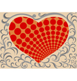 Shaped heart pattern vector image vector image
