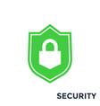 shield security icon vector image vector image
