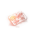 shrimps plate top view delicious meal vector image vector image