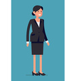 Smiling Businesswoman vector image vector image