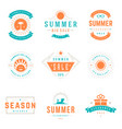 summer season sale badges and tags design vector image vector image