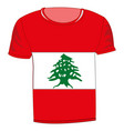 t-shirt flag lebanon vector image vector image