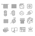 Textile Industry Icons Set vector image vector image