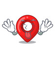 tongue out map marker navigation pin mascot vector image vector image