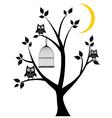 tree owl vector image vector image