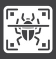 virus scan solid icon security and antivurus vector image vector image