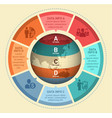world map infographic design vector image vector image