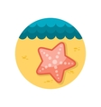 Starfishe flat icon with long shadow vector image