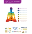 Yoga infographic for your design vector image