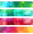 abstract geometric banner background set vector image