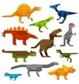 Cretaceous dinosaurs ground cartoon vector image