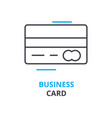 business card concept outline icon linear sign vector image
