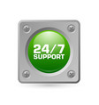 247 support icon vector image
