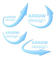 Arrow design template - blue - ready to use vector image vector image