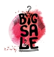 Big Sale letteringTee Shirtwatercolor red splash vector image vector image