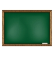 Blackboard on wooden background vector image vector image