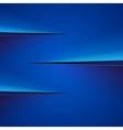 Blue paper cut background vector image
