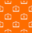 briefcase full of money pattern seamless vector image vector image