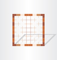 brown cage grid design element vector image vector image