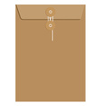 Brown sealed envelope vector image vector image