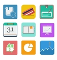 business set icon vector image