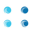 c letter water wave icon vector image