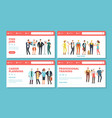 career landing pages find jobs planning vector image vector image