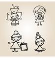 cartoon character happy people vector image vector image