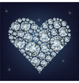 Casino poker element heart made a lot of diamonds vector image vector image