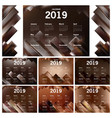 Chocolate themed of calendar 2019