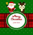 christmas card funny postcard with santa and vector image