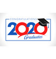 class 2020 year graduation banner concept vector image vector image