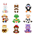 Cute animal toys vector image vector image