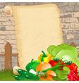 dietary menu on paper grunge vector image vector image
