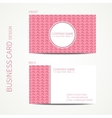 Doodle creative simple business card template with vector image vector image