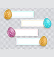 easter banners set easter banners with vector image
