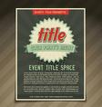 event flyer design vector image