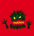 evil red horror monster vector image