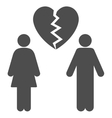 Family Divorce Flat Icon vector image vector image