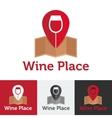 flat wine shop or bar logo set vector image vector image