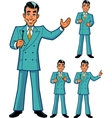 Game Show Host Poses vector image