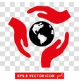 Global Care Hands Eps Icon vector image vector image