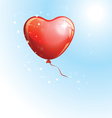 Heart shaped red balloon vector image vector image