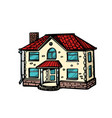 house isolate on white background vector image vector image