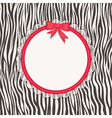 Invitation card with zebra texture vector image vector image