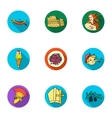 Italy country set icons in flat style Big vector image vector image