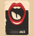 jazz music concert retro poster vector image vector image
