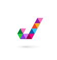 Letter J mosaic logo icon design template elements vector image vector image