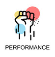 man stranglehold for performance on white vector image vector image